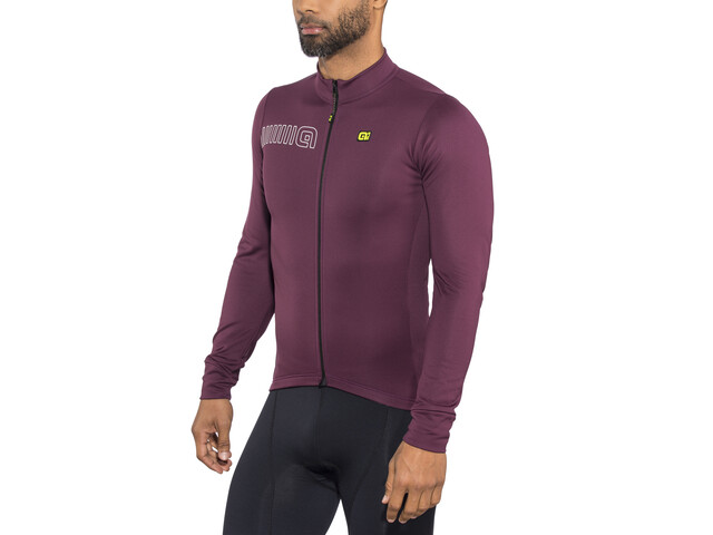 Alé Cycling Solid Color Block Longsleeve Jersey Men amarone red